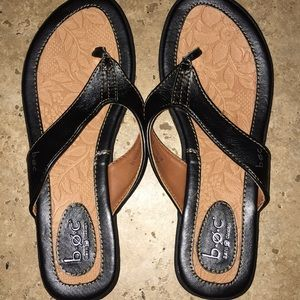 BOC Black Thong Sandals